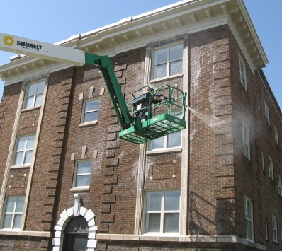 commercial building washing Indianapolis Indiana